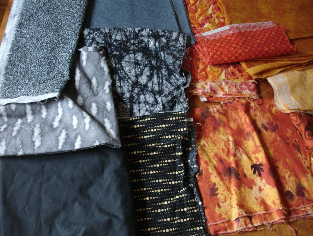 October Table Runner Fabrics