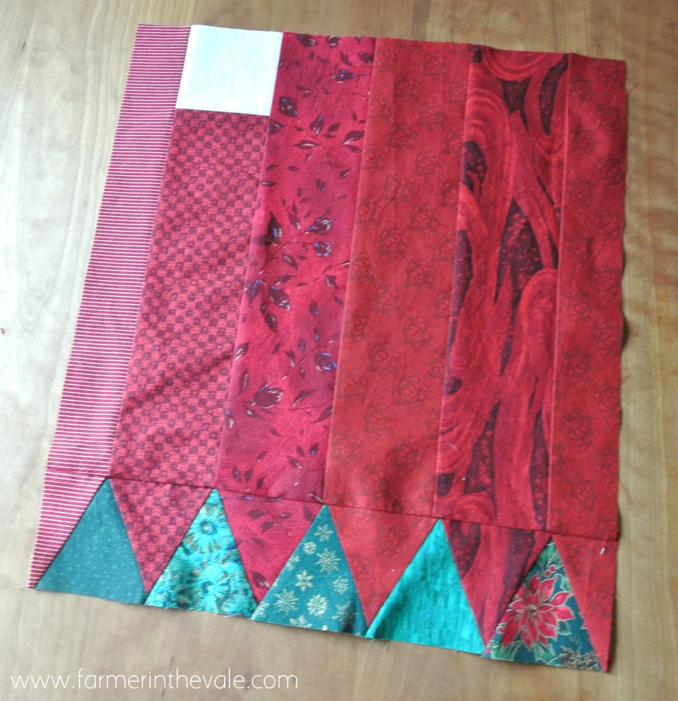 December Table Runner - first square