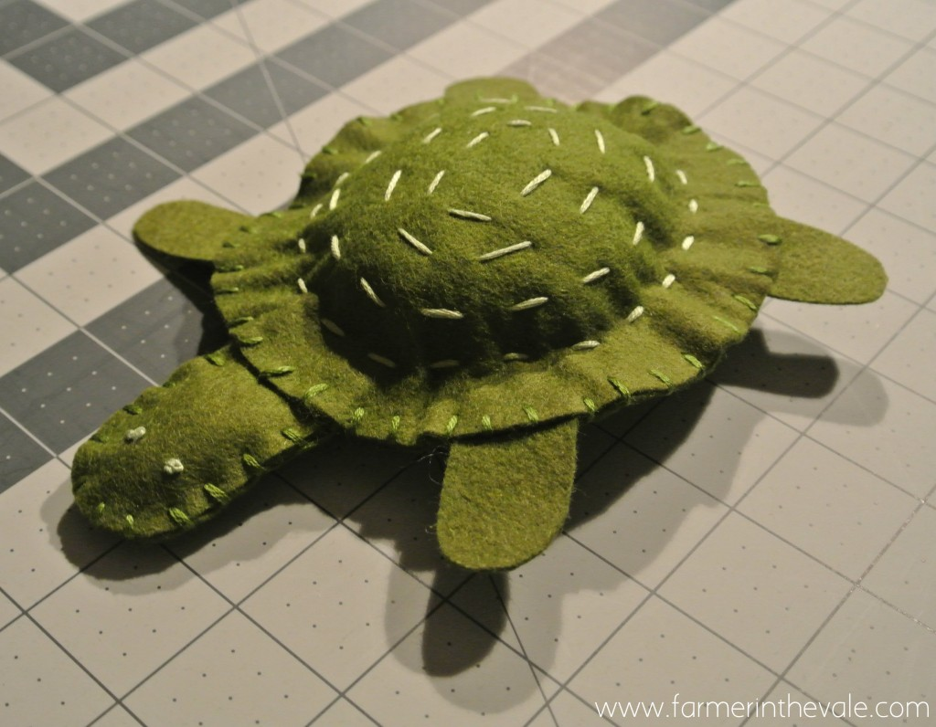 Felt Turtle - The Makeover is Complete