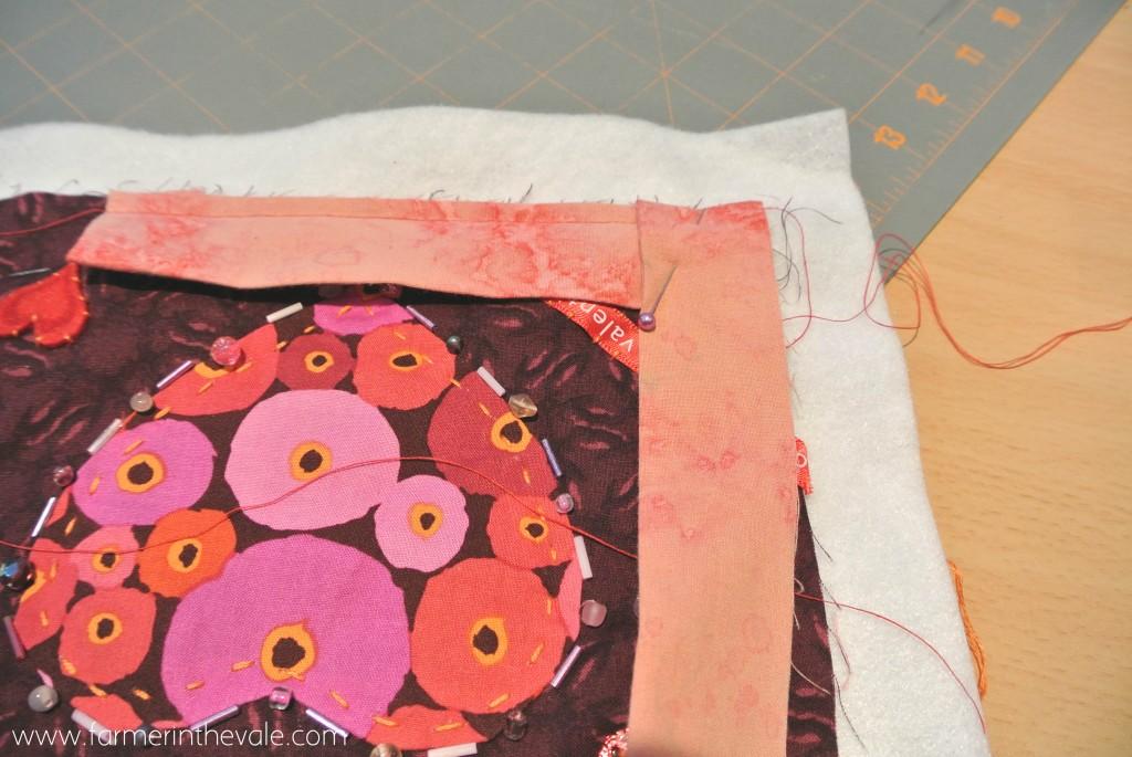 Finishing a Quilt - Finish Folding the Corner