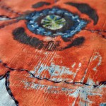 Floral table runner close up