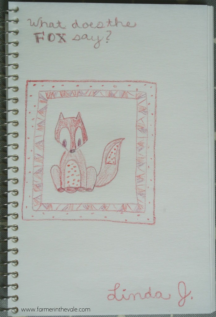 Fox Quilt - Color Sketch