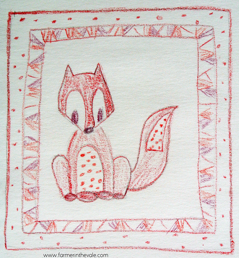 Fox Quilt - Hand Drawn Concept _ sml