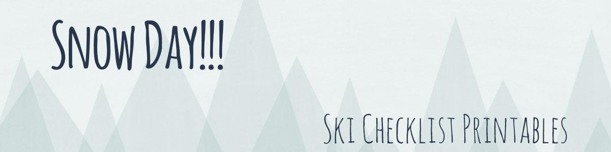 ski checklist printables