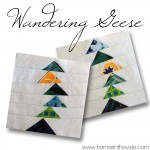 Wandering Geese Quilt Square