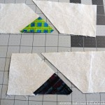 Wandering Geese _ sewing the first triangle